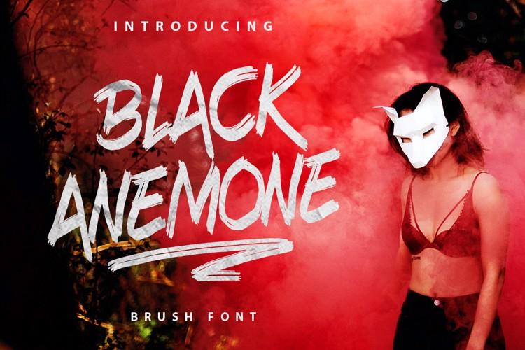 Black Anemone Font