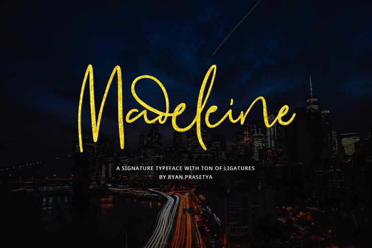 Madeleine Demo Font