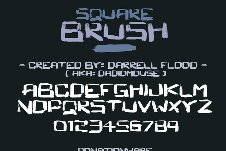 Square Brush Font