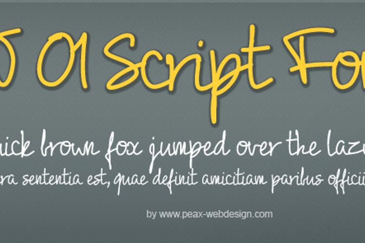 PW01Script Font