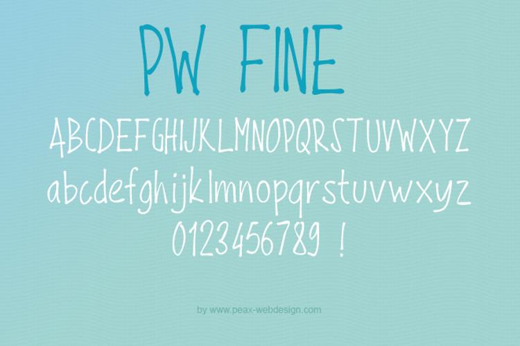 PWFine Font