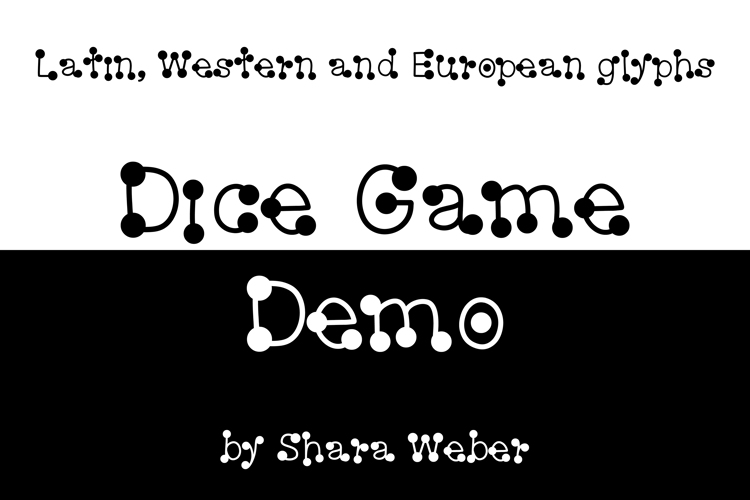 Dice Game Font