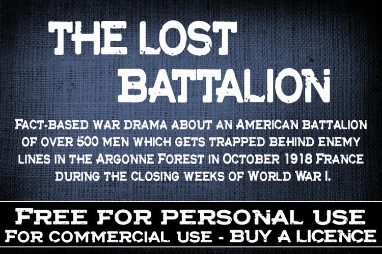 CF The lost battalion Font