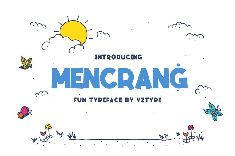 Mencran ġ Font