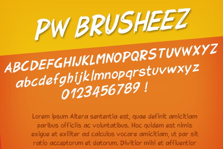 PWBrusheez Font