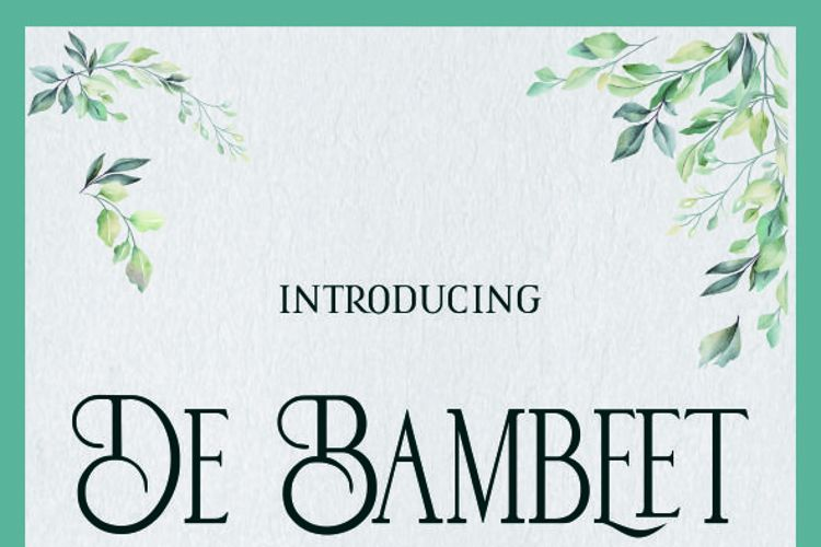 De Bambeet Font