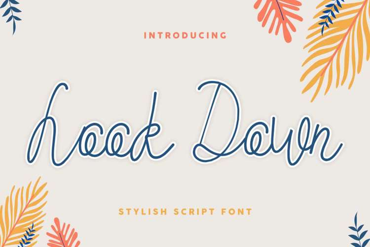 Look Down Font