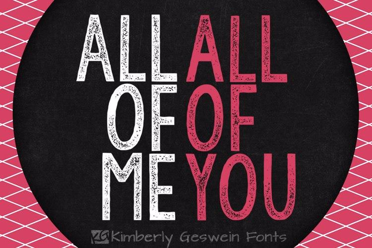 KG All of Me Font
