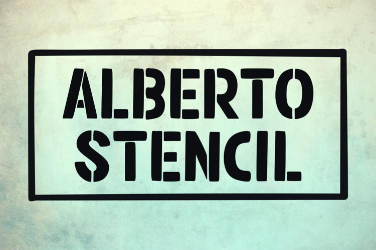 Alberto Stencil Font