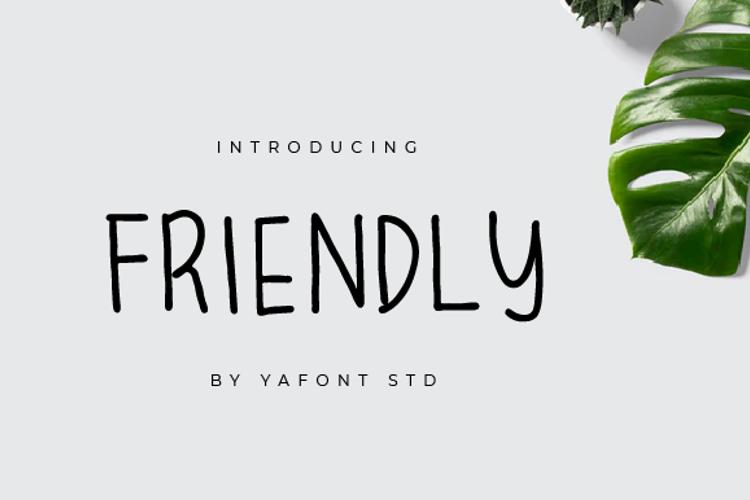FRIENDLY Font