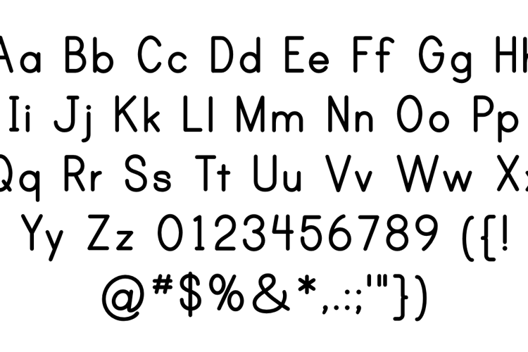 Print Clearly Font