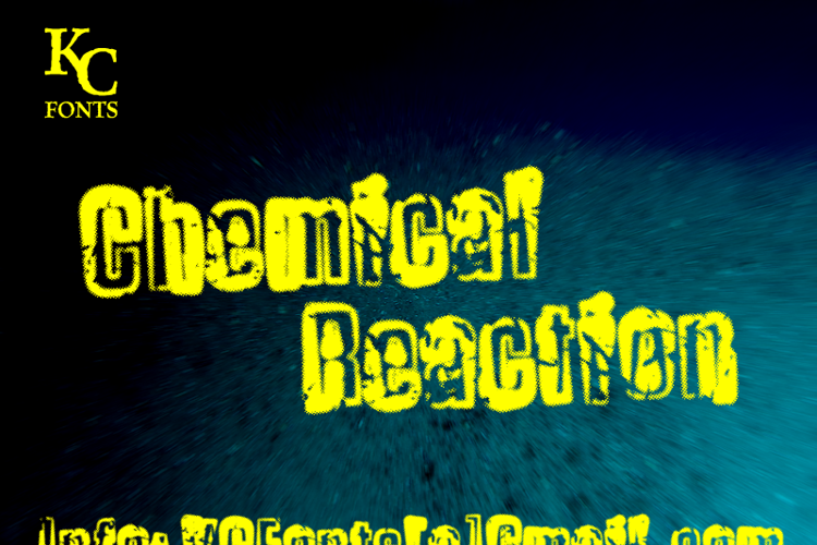 Chemical Reaction Font