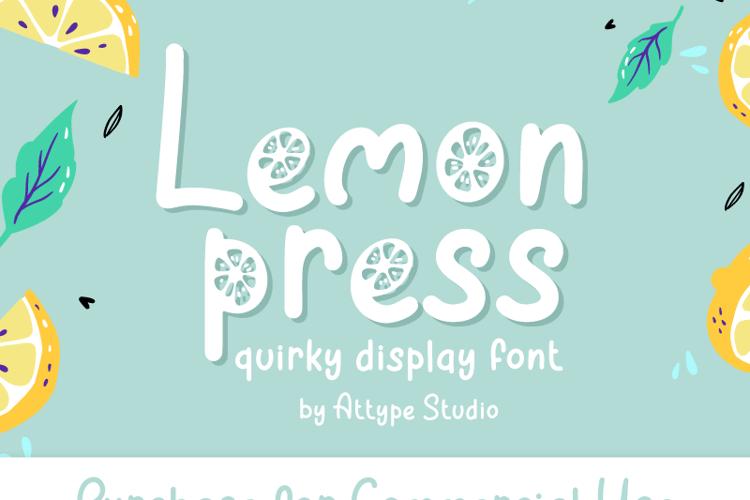 Lemon Press Font