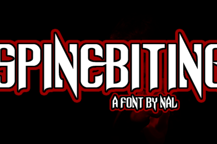 Spinebiting Font