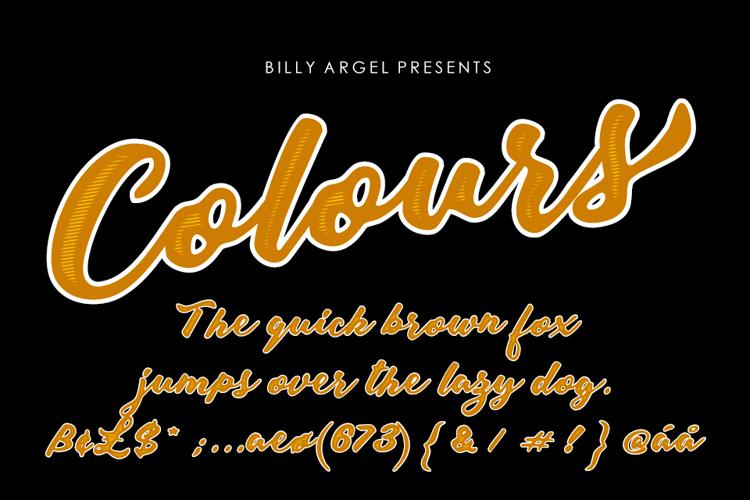 Colours Font