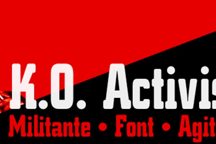 K.O. Activista* Font