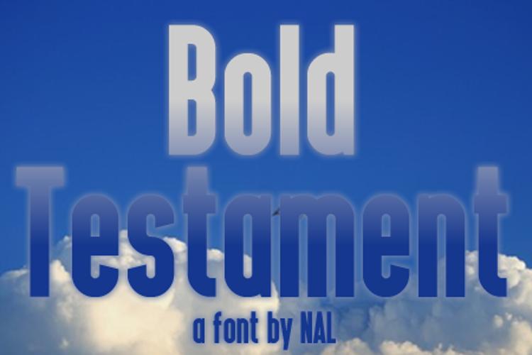 Bold Testament Font