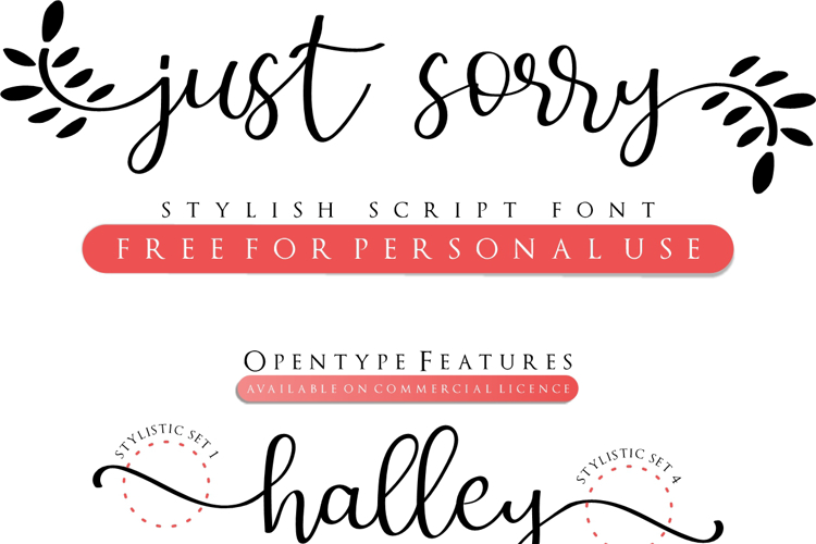 Just Sorry Font