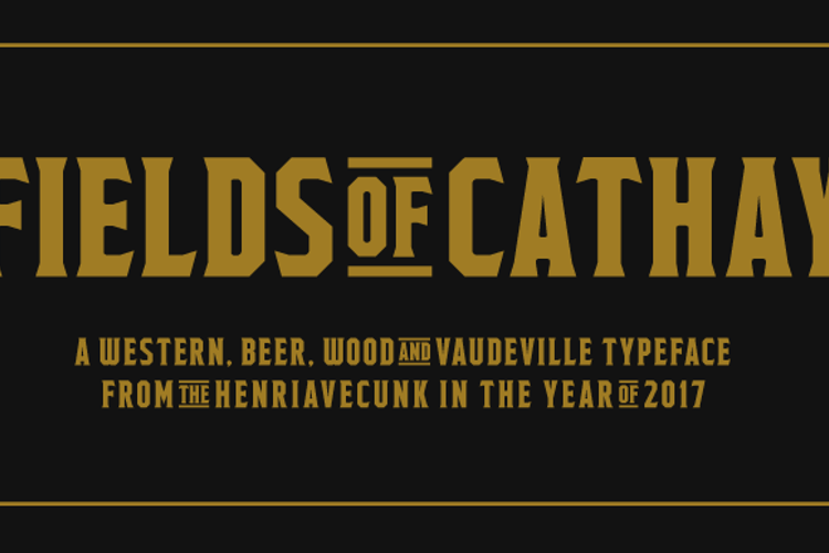 Fields of Cathay Font