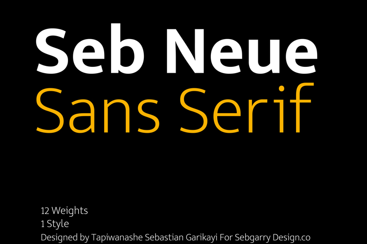 Seb Neue Font