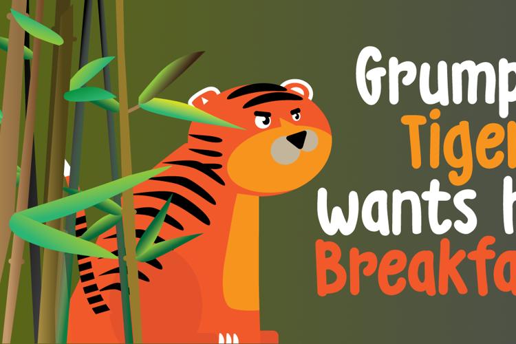 DK Grumpy Tiger Font