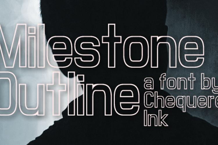 Milestone Outline Font