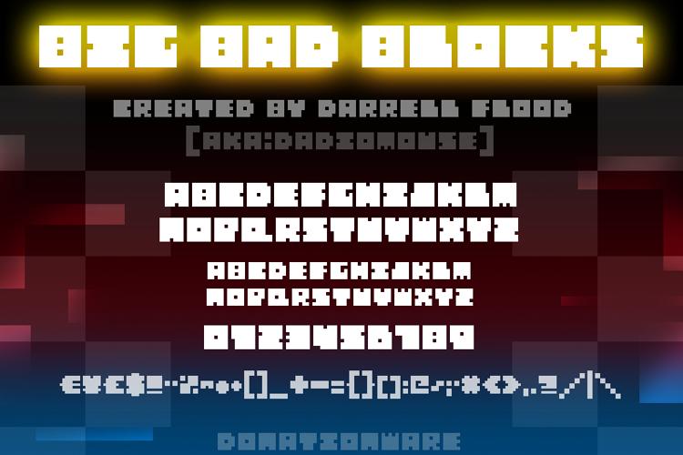 Big Bad Blocks Font