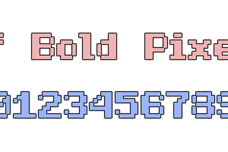 Half Bold Pixel-7 Font