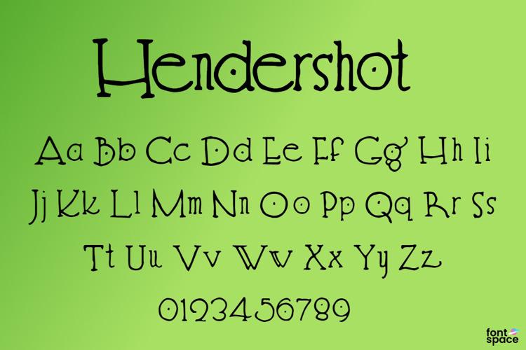 Hendershot Font