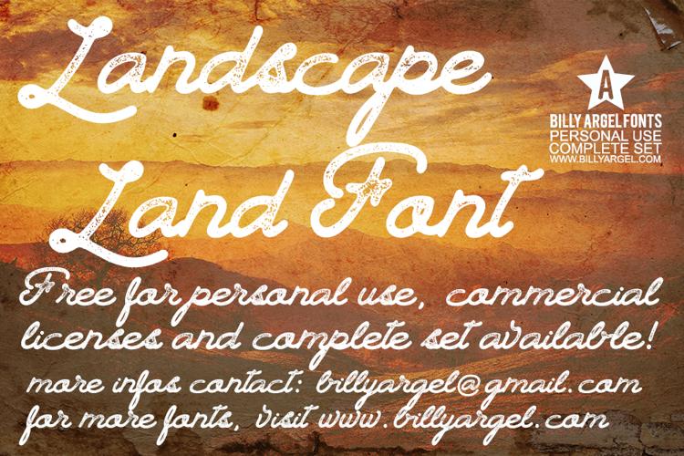Landscape Land Font