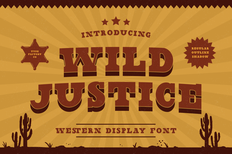 Wild Justice - Trial Font