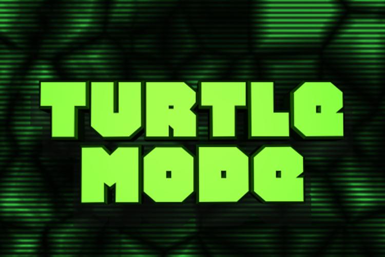 Turtle Mode Font