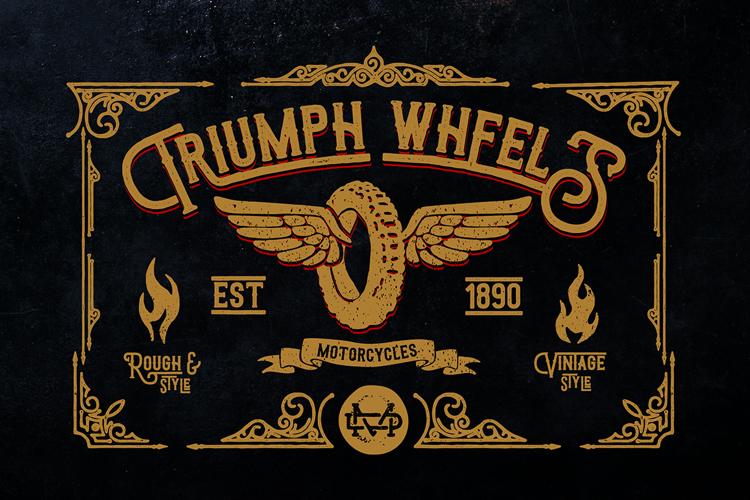 Triumph wheels rough Font