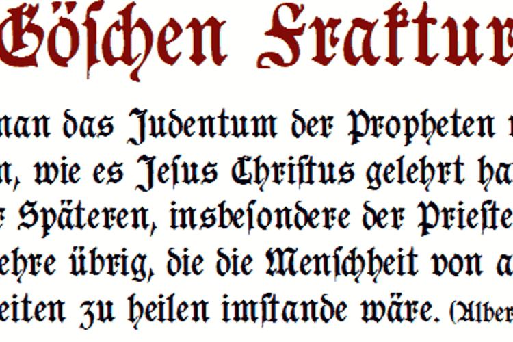 Goeschen Fraktur Font
