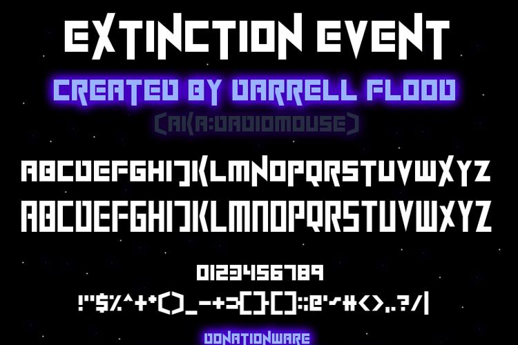 ExtinctionEvent Font