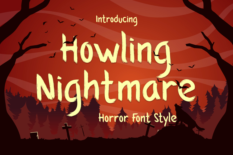 Howling Nightmare Font