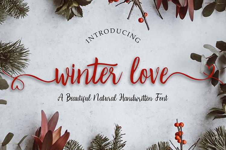 Winter Love Font