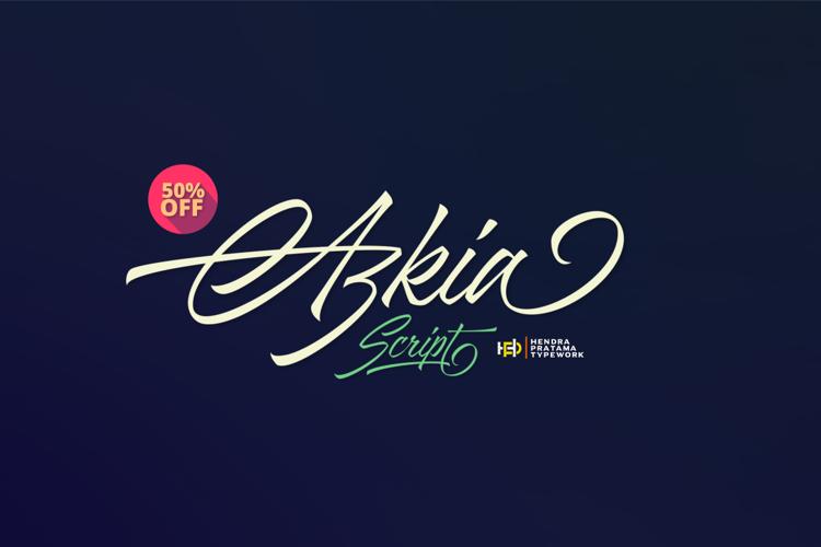 Azkia Demo Font