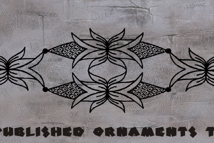 Unpublished Ornaments Two Font