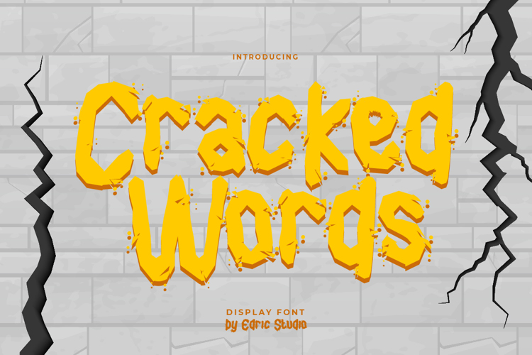 Cracked Words Font