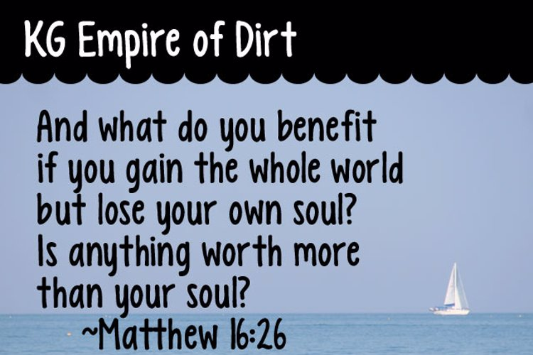 KG Empire of Dirt Font