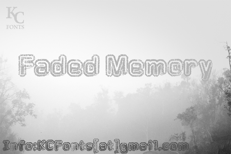 Faded Memory Font