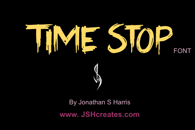 Time Stop Font