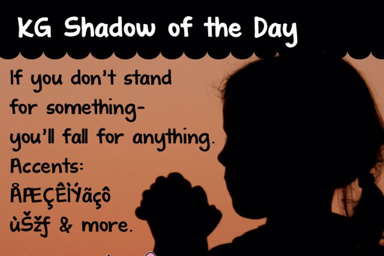KG Shadow of the Day Font