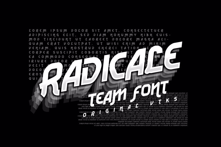 Vtks Radicale v2 Font