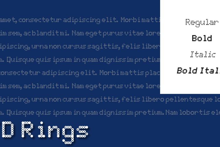 JD Rings Font