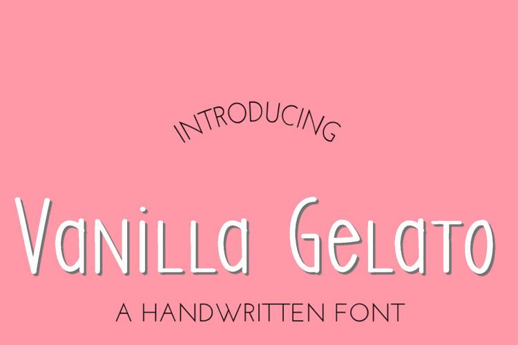 SS Vanilla Gelato Font