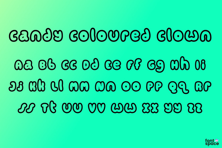 Candy coloured clown Font