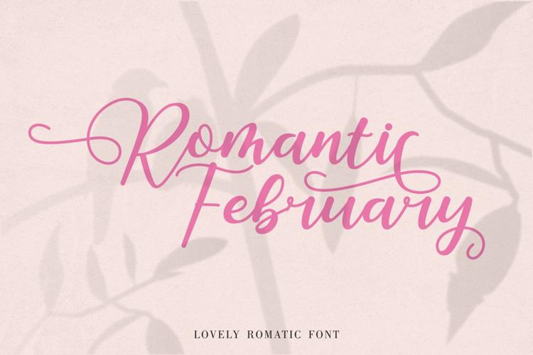 Romantic February Font