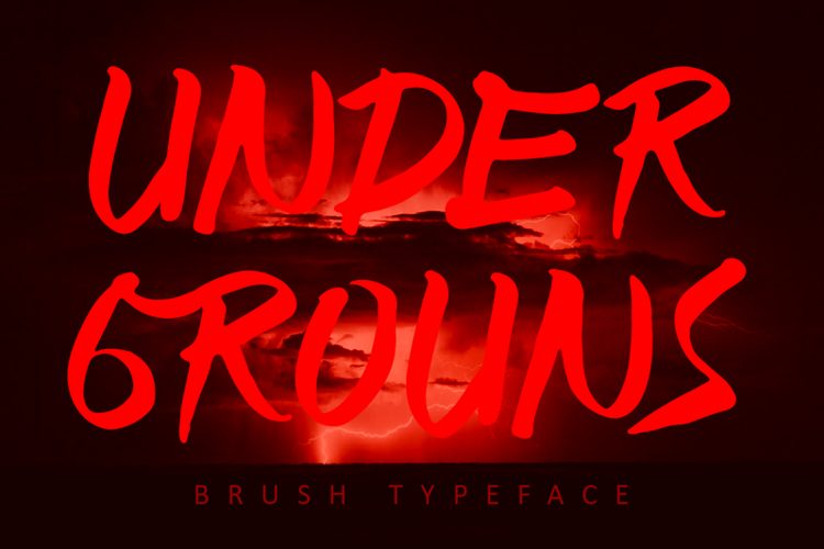 UNDER GROUNDS Font
